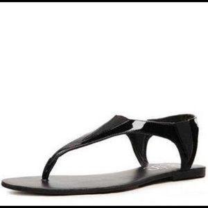BCBG Richmand Black Thong Sandal.